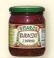 Buraczki z papryką 500g - Vitarol