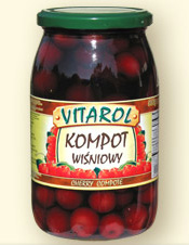 Kompot wiśniowy 900g - Vitarol