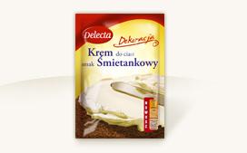 Krem tortowy o smaku śmietankowym 110g - Delecta