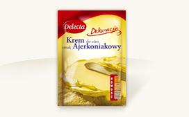 Krem tortowy smak ajerkoniakowy 110g - Delecta