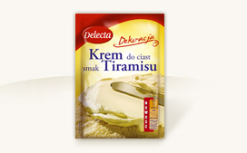 Krem do ciast o smaku tiramisu 110g - Delecta