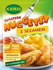 Złociste nuggetsy z sezamem 100g Kamis