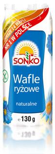 Wafle ryżowe naturalne 130g Sonko
