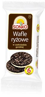 Wafle ryżowe w czekoladzie gorzkiej 100g Sonko