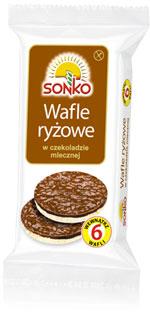 Wafle ryżowe w czekoladzie mlecznej 100g Sonko