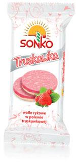 Wafle ryżowe w polewie jogurtowej 100g Sonko