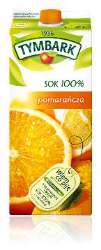 Sok pomarańcza 100% karton 2l Tymbark