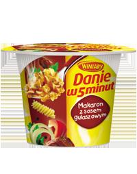 Danie w 5 minut Makaron z sosem gulaszowym 50g Winiary