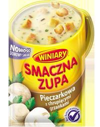 Smaczna zupa Pieczarkowa z chrupiącymi grzankami 15g Winiary
