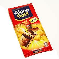 Czekolada chrupek lekko solony 80g Alpen Gold