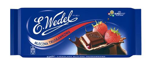 Czekolada mleczna truskawkowa 100g Wedel
