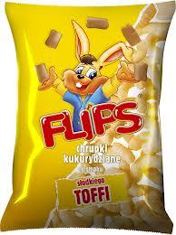 Flipsy chrupki kukurydziane o smaku toffi 70g Flips
