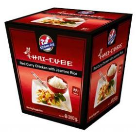 Kitchen Joy red curry chicken with jasmine rice 350g