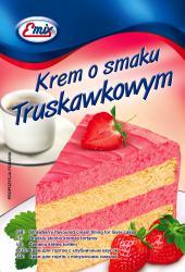 Krem do ciast i tortów truskawkowy 100g Emix