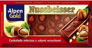 Czekolada mleczna Nussbeisser z c. orzechami 100g - Alpen Gold