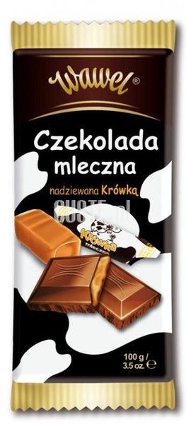 Czekolada mleczna nadziewana krówka 100g Wawel