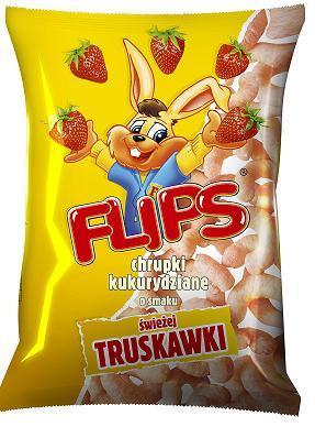 Flipsy chrupki kukurydziane o smaku truskawki 70g Flips