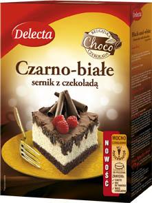 Czarno - Białe - sernik z czekoladą - Delecta