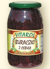 Buraczki z cebulą 900ml - Vitarol