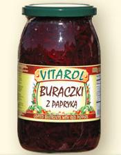 Buraczki z papryką 900ml - Vitarol