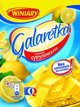 Galaretka cytrynowa 75g- Winiary