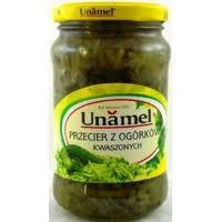 Przecier z ogórków kwaszonych 340g Unamel