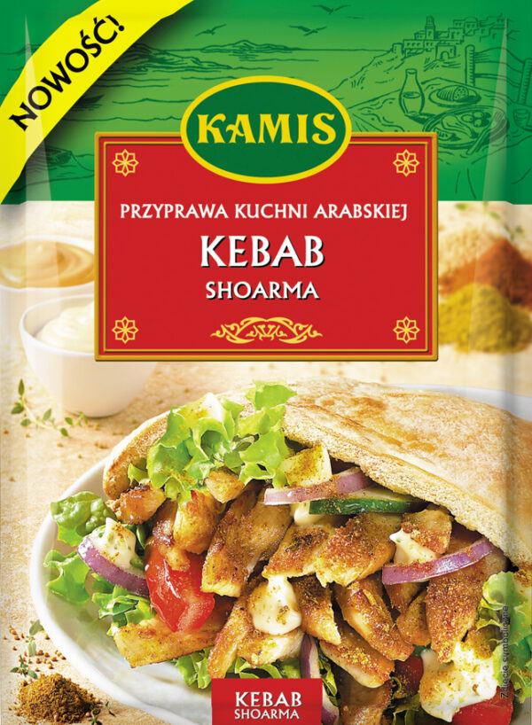 Przyprawa do kuchni arabskiej Kebab Shoarma 25g Kamis