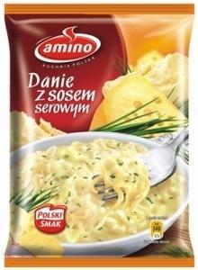 Danie błyskawiczne z sosem serowym 67g - Amino